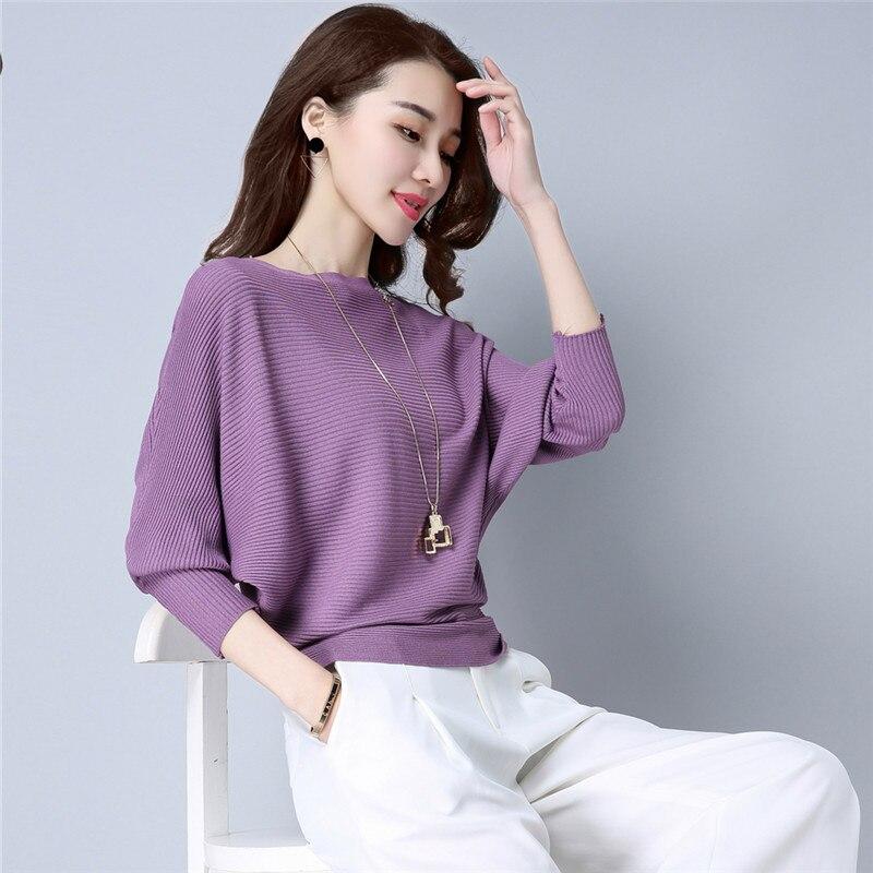 Hors épaule sexy élastique tricot pull femme chauve-souris à manches longues tricoté pull femmes mode pull pull en tricot chemise