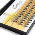 Kimcci 60 nudos/caso falsas naturales de extensión de pestañas maquillaje 10D visón individuales de pestañas profesional falso injerto Cilias