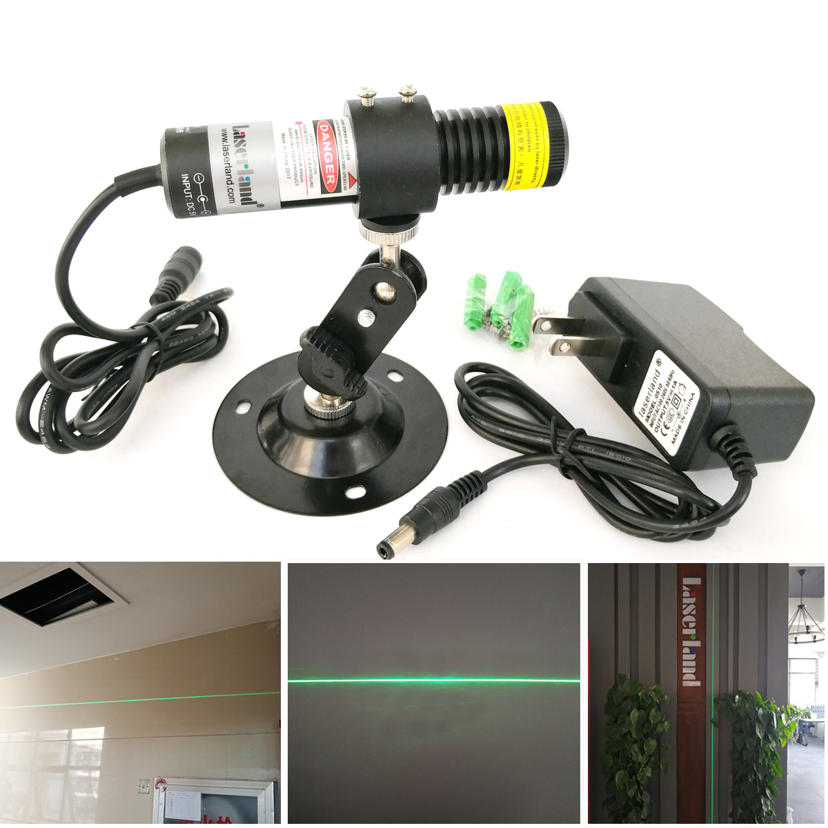 520nm 80mW Green Laser Line Generator Alignment Diode Module For Stone Wood Cutting Low Working Temp Dust-proof Waterproof IP65