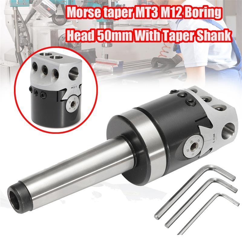 HHO-1 Set 50 Millimetri Mt3-M12 Universale Uso Testa di Foratura Con Cono Morse Gambo Per Tornio Strumento di Fresatura