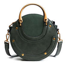 Luxury Handbags Women Bags Designer 2019 Circular Scrub PU Leather Women Bags Retro Handbag Small Round Women Shoulder Mini Bag mini circular genuine leather handbag vintage diamond lattice one shoulder cross body bag small round package women tassel bags