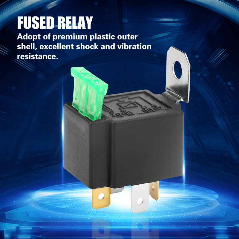 4 Pin Dc 12v 30a Car Relay Normally Open Contacts Fused