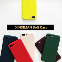 XINDIMAN phone case for iphone5s soft TPU silicone covers iphone 6s 6plus coque iphone7 7plus 8 8plus XR XSMAX