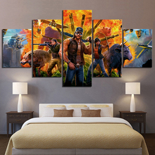 5 Piece Game Poster Far Cry Figure Canvas Printed Wall Pictures Home Decor For Living Room Wholesale