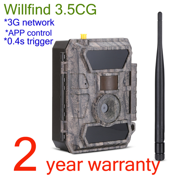Willfine 3.5CG  3G Model Hunting Cameras IP66 Waterproof  Forest Surveillance Wild Cameras with APP Remotel Control Good Quality