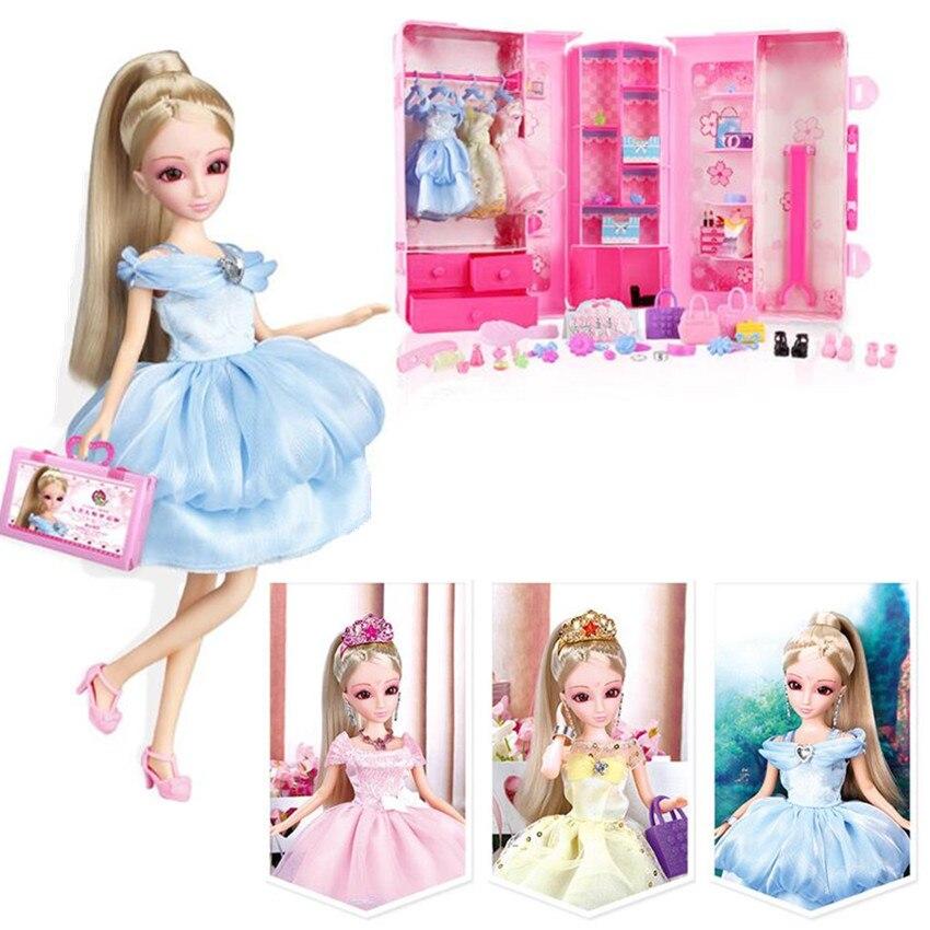 1 шт. модный набор кукол для вечеринки, платье принцессы для куклы, лучшие рождественские подарки на день рождения для девочек, детские игруш