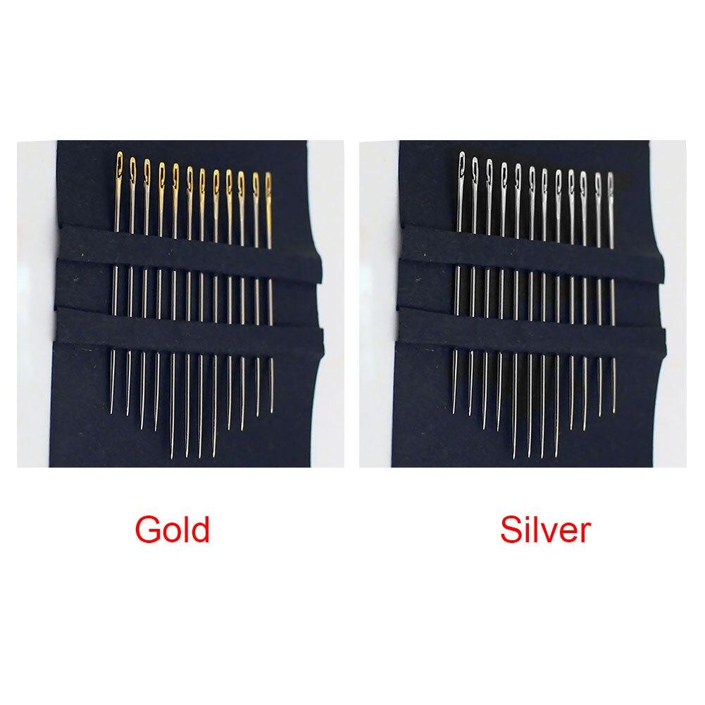 Бытовые инструменты штопальные Швейные боковое отверстие 12 шт. иглы мульти-размер ручной нержавеющей стали