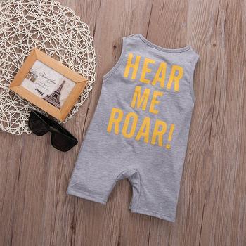 Newborn Baby Kid Boy Tiger Cotton Romper Jumpsuit Playsuit Outfits Harem Clothes