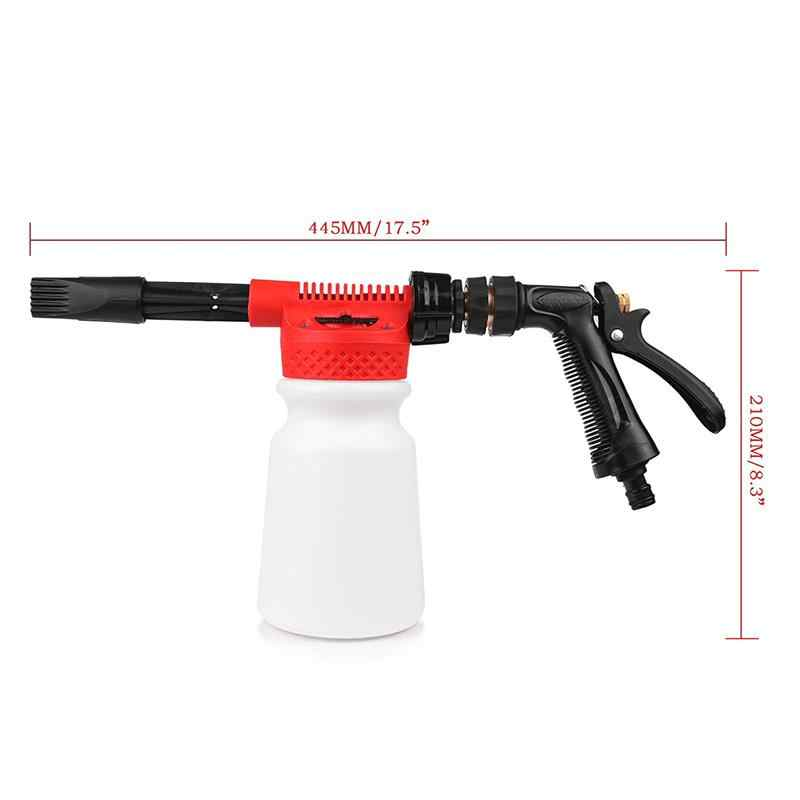 Car Cleaning Foam Gun Multifunctional Washing Gun Water Soap Shampoo Sprayer 900ml for Van Motorcycle Vehicle (Red)