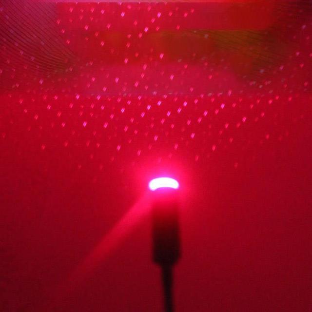Onever Mini LED araba çatı yıldız gece ışıkları projektör ışığı iç ortam atmosfer Galaxy lamba dekorasyon işık USB fiş