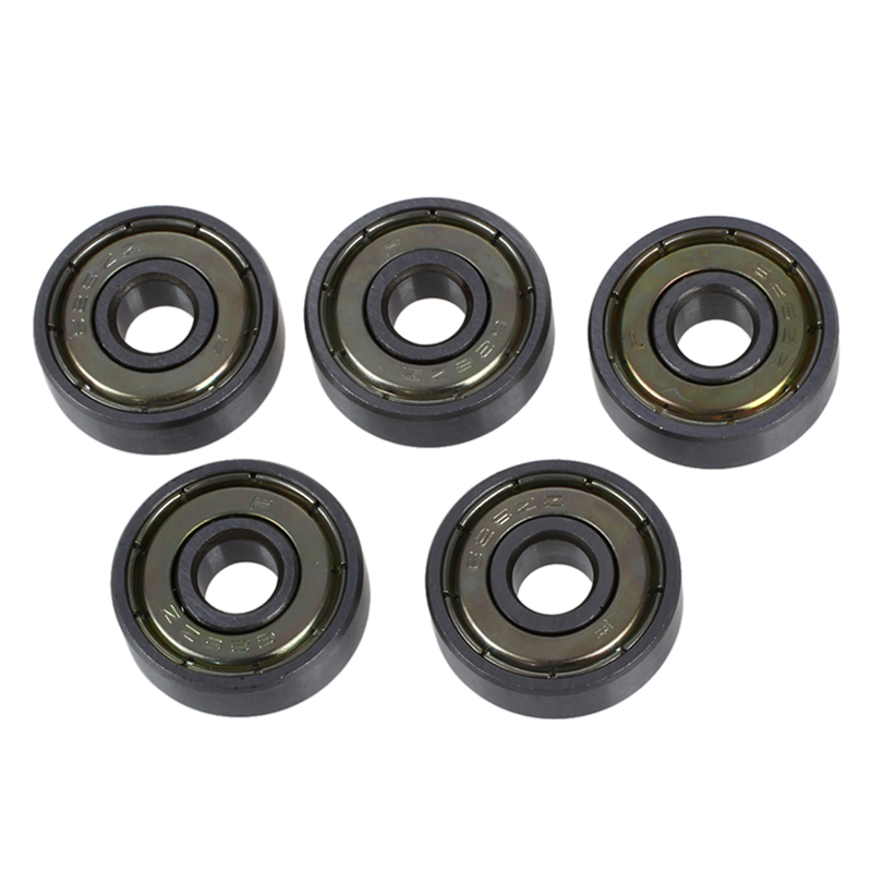 626Z 6mm x 19mm Shielded Radial Miniature Deep Groove Ball Bearing 5 Pcs