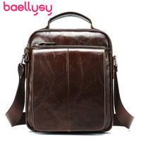 Vintage Men Briefcase Genuine Leather Handbags Crossbody Bags For Men Fashion Satchel Shoulder 6 Inch Ipad Handbag Bolso Hombre