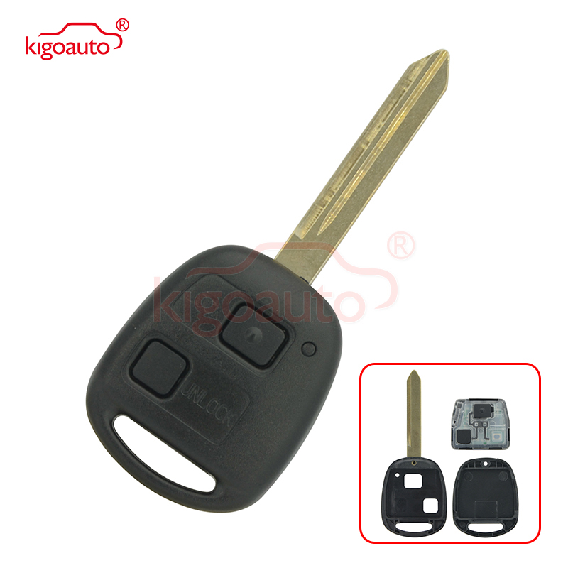 2 Buttons Remote Key 433MHZ,4C Chip Inside for Toyota RAV4 Corolla Yaris