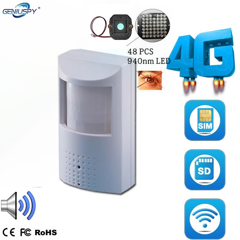 720 P 960 P 1080 P PIR Style sans fil 4G carte SIM caméra IP avec ir-cut Invisible 940nm IR LED intégré Audio Micro fente pour carte SD