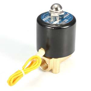Electric Solenoid-Valve Water-Air-Oil In-Use 1/4inch-5--85-Celsius Brass Metal Pressure-0-115psi