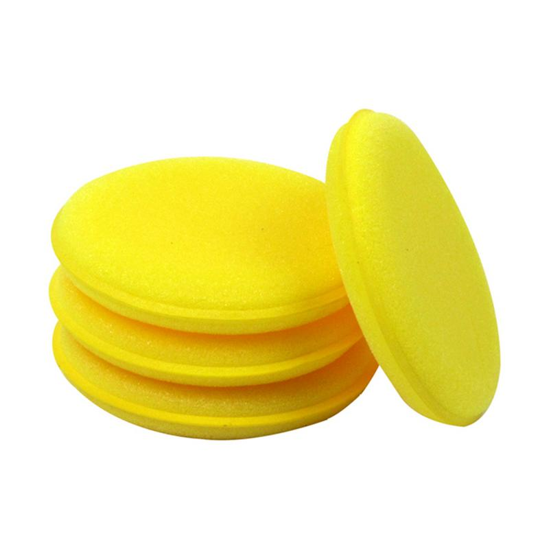 Image 3 - 12 Pieces Car Vehicle Wax Polish Foam Sponge Hand Soft Wax Yellow Sponge Pad/Buffer For Car Detailing Care Wash Clean Tool-in Sponges, Cloths & Brushes from Automobiles & Motorcycles