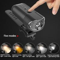 USB Rechargeable Bicycle Light LED Headlight Emergency Power Lamp 4000mAh For Running Camping Quick Delivery