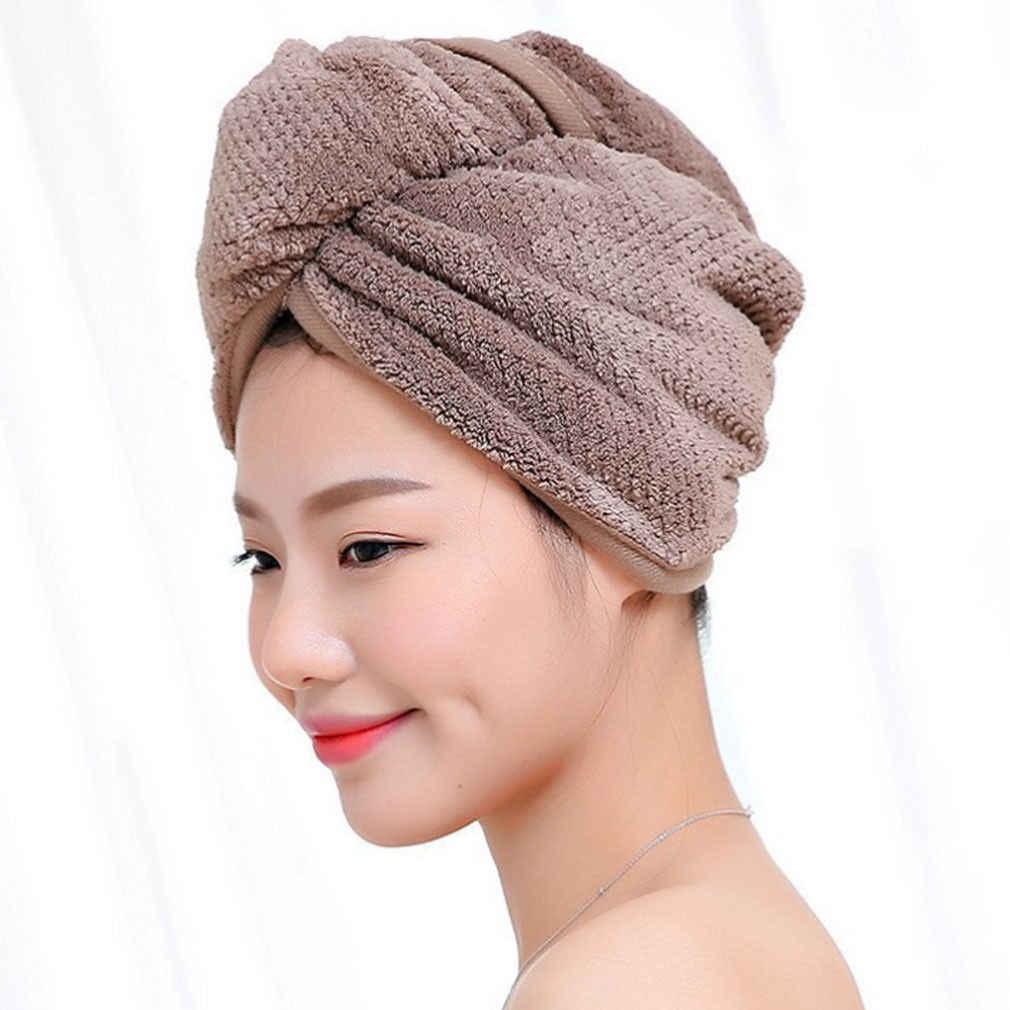 Cotton Hair Wrap Towel Drying Bath SPA Head Cap Turban Twist Dry Shower 6T