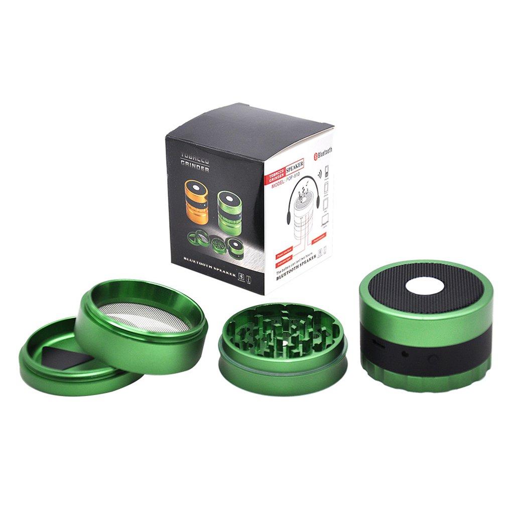 Broyeur d'herbe de haut-parleur de broyeur de fonction Audio de broyeur de tabac en métal de disjoncteur de Cigarette de 63mm