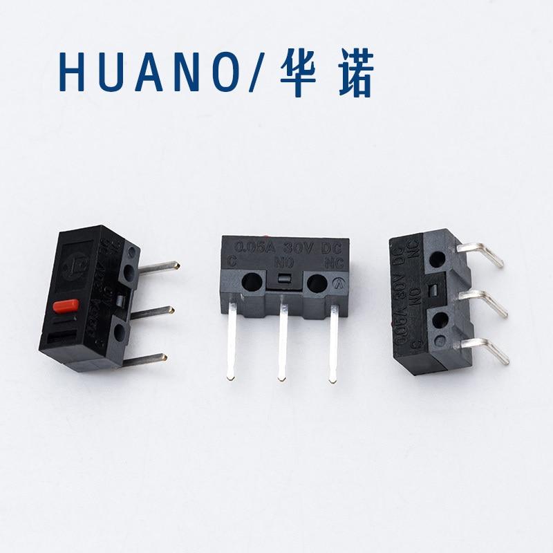 2 шт./компл. HUANO Red Dot mouse микро переключатель левый изогнутый/правый изогнутый/длинная кнопка для мыши боковой ключ Средний ключ