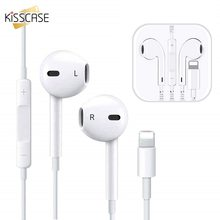 KISSCASE In-Ear Stereo Wired Earphone For iPhone X 8 7 Plus Sports White MAX XR Official Original Headset