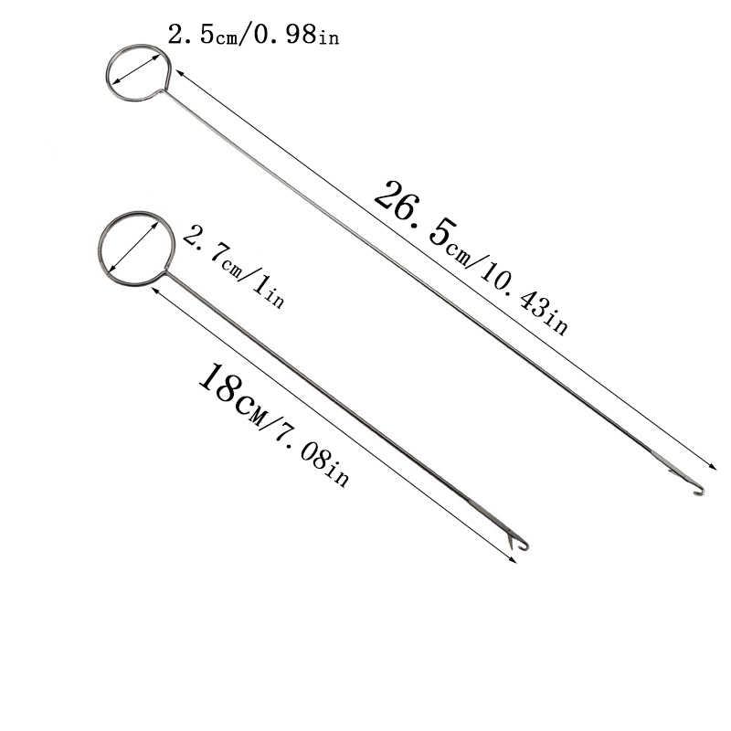 "Metal Sewing Loop Turner Hook Latch Turning Fabric Tubes Straps Belts Strips/""#"