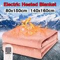 140x160cm cobertor elétrico à prova dwaterproof água elétrica aquecida cobertor 4 engrenagem cronometragem elétrica esteira aquecida cobertor de aquecimento elétrico tapetes