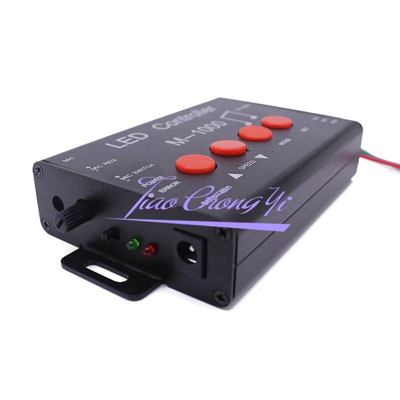 M 1000 Controlador de LED, Programável Levou Controlador de Música 2048 Pixel para WS2812B WS2811 WS2801 SK6812 levou iluminação de tira - 3
