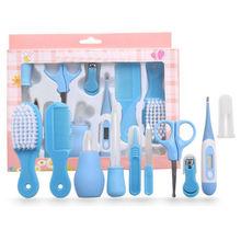 2019 New 10pcs/Set Newborn Baby Kids Nail Hair Health Care Thermometer Grooming Brush Kit set Accessories