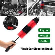 430mm Long Car Grille Wheel Engine Brush Wash Microfiber Cleaning Detailing Automotive