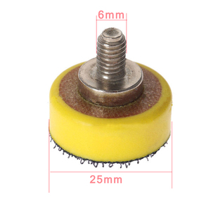 "Image 5 - 1"" Inch 60 pcs 25mm Polishing Sponge 2 pcs M6 Polishing Plate for Polishing Machine Polishing Set"