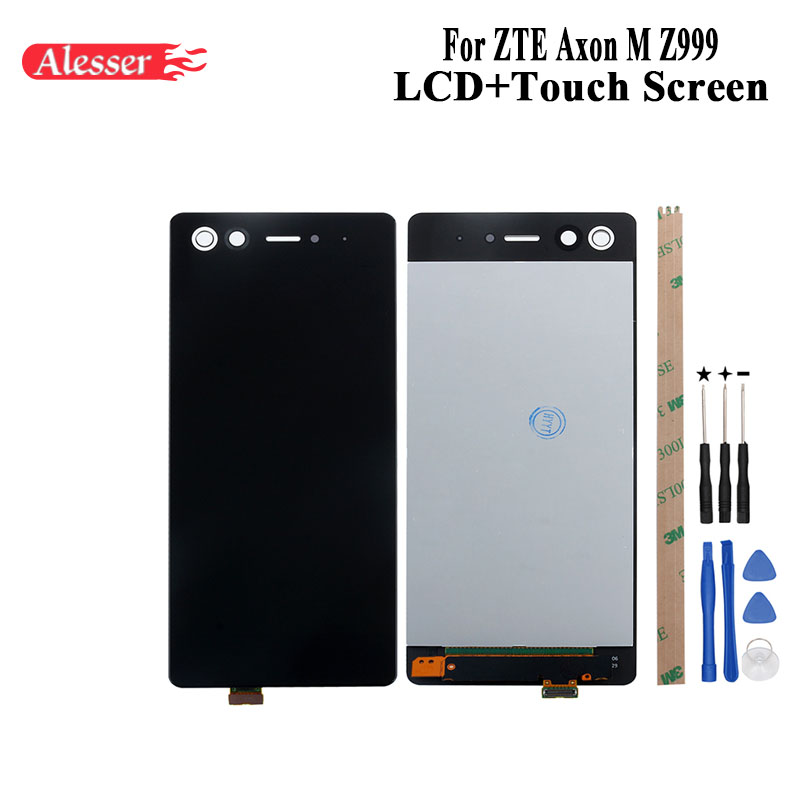 Alesser For ZTE Axon M Z999 LCD Display and Touch Screen Assembly Repair Parts With Tools And Adhesive For ZTE Axon M Z999 PhoneAlesser For ZTE Axon M Z999 LCD Display and Touch Screen Assembly Repair Parts With Tools And Adhesive For ZTE Axon M Z999 Phone