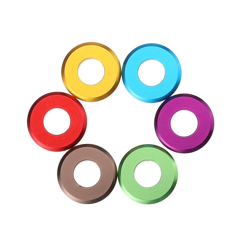 Minnelijk Suleve M5aw1 10 Stks M5 Aluminium Platte Schroef Washer Spacer Pakking Multicolor Glanzend Oppervlak