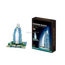 hot LegoINGlys creators city Street view United Arab Emirates Dubai Burj Al Arab micro diamond building blocks bricks toys gift academics knowledge sharing behaviour in united arab emirates