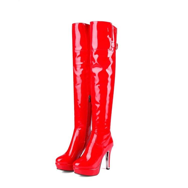 Genou Taille Dj Hauts D'automne Xianyiduo Talons Printemps À 6 Femme Zip chaussures 34 Le Bottes Grande 5203 Sexy Partie 48 Danse Sur Rouge Grand q4CvqwH
