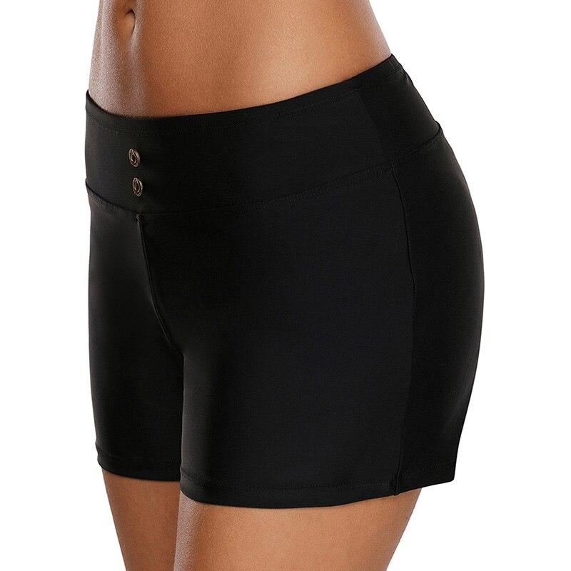 Bereidwillig S-3xl Plus Size Zomer Shorts Voor Vrouwen Zwarte Knop Decoratie Elastische Hoge Taille Vakantie Shorts Mujer Boho Dames Shorts