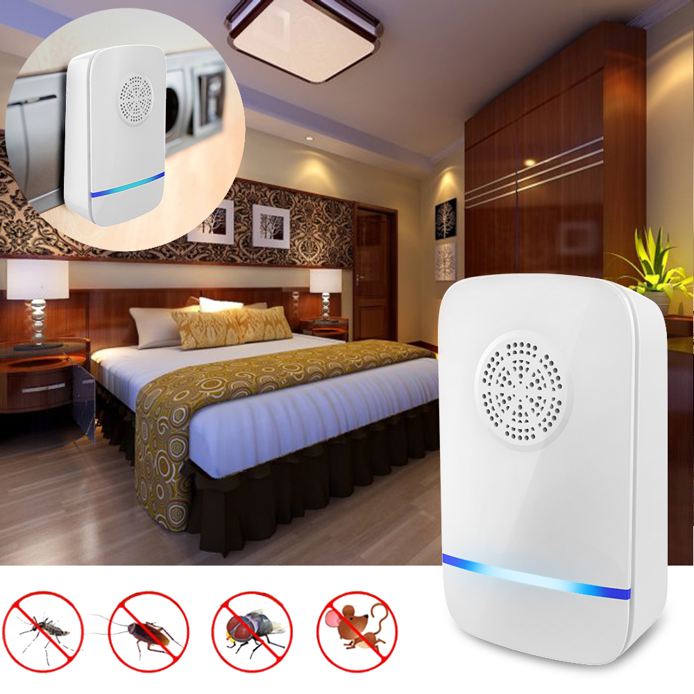 Ultrasonic Pest Repeller Electronic Mosquito Insect Mouse Cockroach Repeller Pest Control Killer Lamp Home Living Room