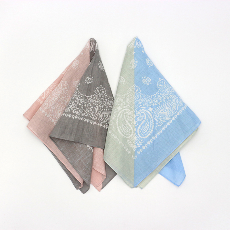 Cotton Bandanas Ladies Pink Blue Paisley Squares Neck Scarf Women Hairband Headband Handkerchief