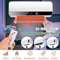 220V 2000W Wall mounted Remote Control Heater Home Energy Saving Heating Heating Fan Bathroom Air Conditioning Hot Air Heating