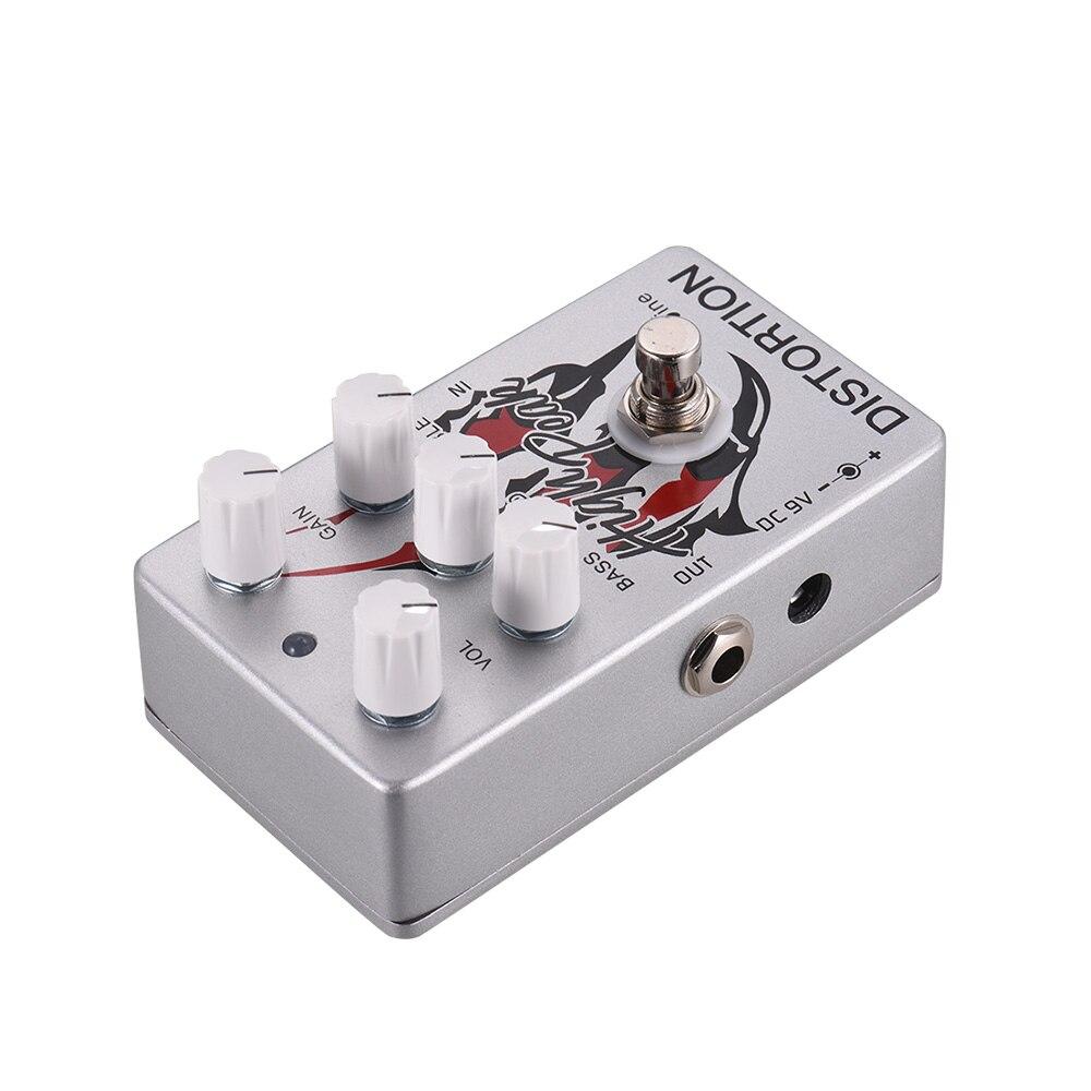 Caline CP-69 argent guitare électrique effet de distorsion pédale EQ avec véritable contournement guitare acoustique pédales pleine coque en métal