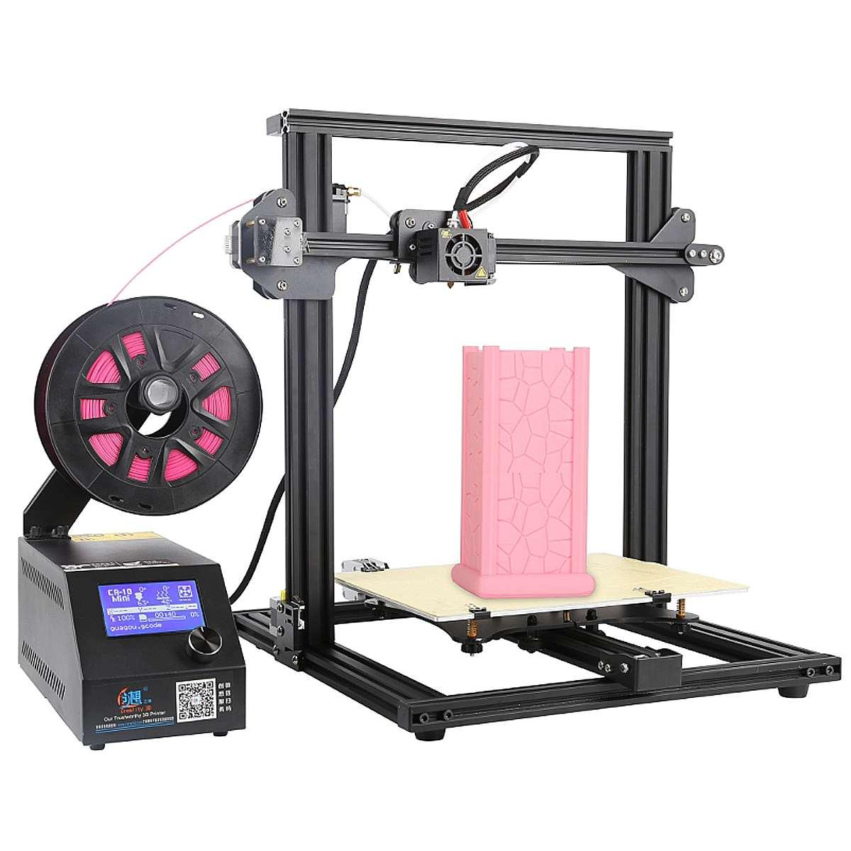 CR-10 Mini DIY 3D Imprimante Kit de Soutien de Cv Impression 300*220*300mm Grande Taille D'impression 1.75mm 0.4mm Buse