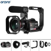 Ordro AC5 в формате 4 K UHD, цифровой видео фотоаппаратов и видеокамер с переменным фокусным расстоянием 12X FHD 24MP Wi Fi ips Сенсорный экран цифровой опт