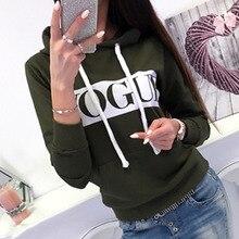 134d665821 Kobiety jesień zima Kpop bluzy z długim rękawem z kapturem bluzy z kapturem  eleganckie panie Vogue
