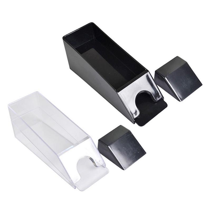 1 Set Di Carte Da Gioco Che Si Occupa Di Scarpe Luce Durevole Nero Trasparente Rivenditore Tiene 1-6 Mazzi Di Carte Da Gioco Di Plastica Facile Da Usare Materiali Di Alta Qualità