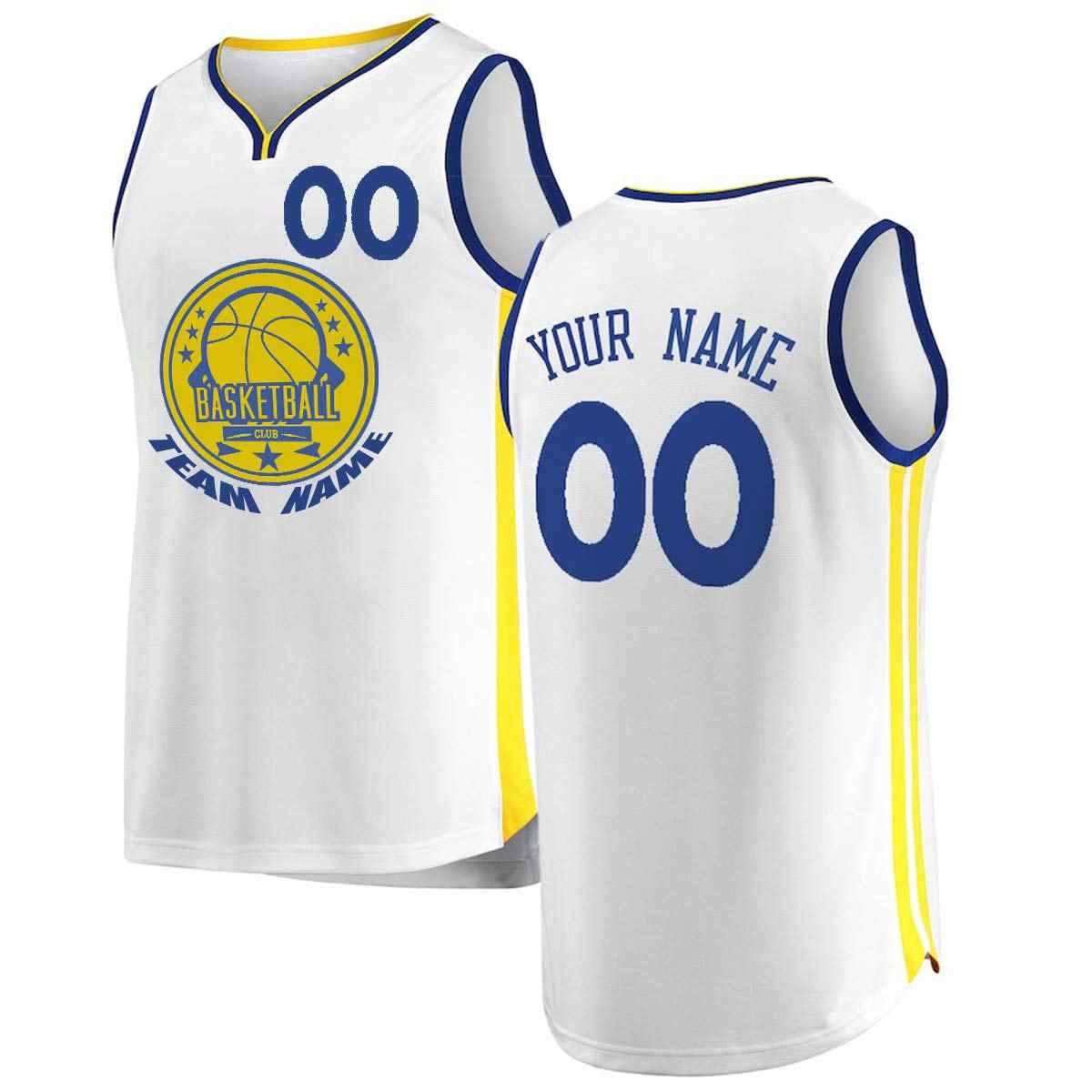 Custom Golden State Basketball Jersey Personalized High School College  Embroide Your Own Team Logo Any Name 05cbe95e5