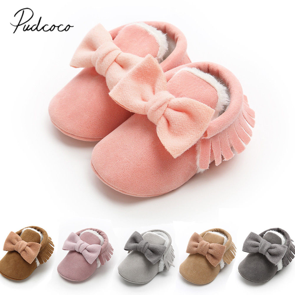 Baby Tassel Soft Sole Shoes Tassels Newborn Boy Girl Shoes Infant Toddler Bowknot Hot