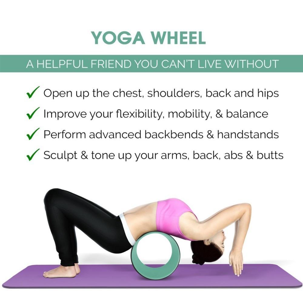 Yoga Stretch Roller Wheel Pilates Circle Health/&Fitness Prop Back Training Tool