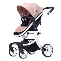 Детская коляска 2 в 1 лежа или увлажнения легкий вес двухсторонняя детская коляска из алюминиевого сплава двухсторонняя ударная тележка