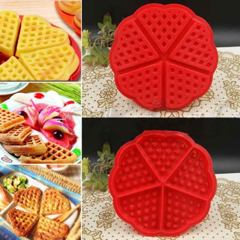 Baru 1 PC Kreatif Non-Stick Food Grade Silikon Waffle Cetakan Dapur Bakeware Cetakan Kue Pembuat untuk Roaster Kue alat Dekorasi