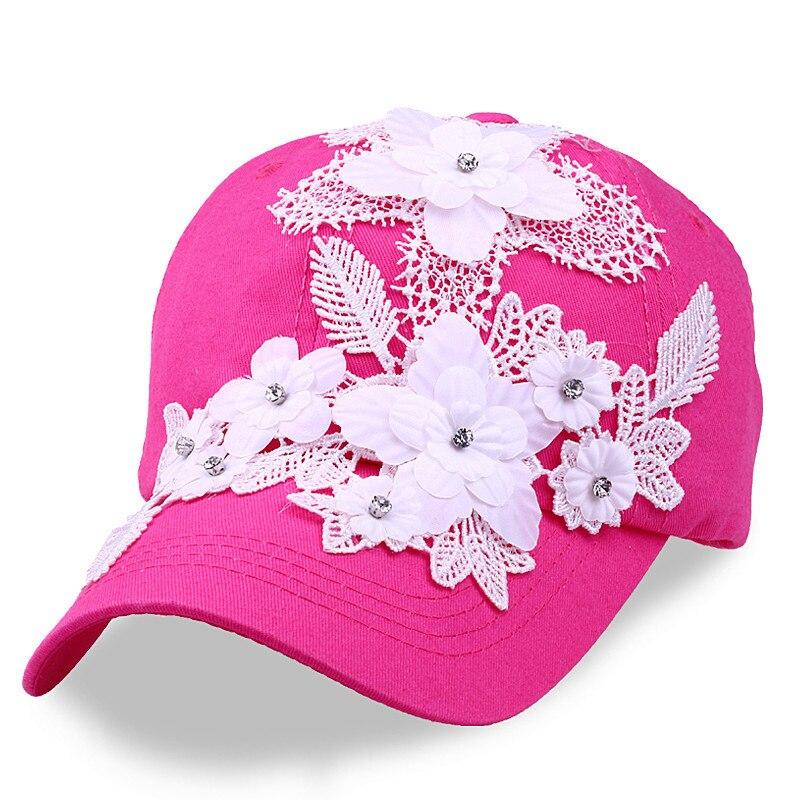 Stetig Neue 2019 Frauen Baseball Kappe Handgemachte Blume Denim Weibliche Hysterese Kappe Gorras Casquette Einstellbare Qualität Sonne Dad Caps
